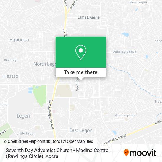 Seventh Day Adventist Church - Madina Central (Rawlings Circle) map