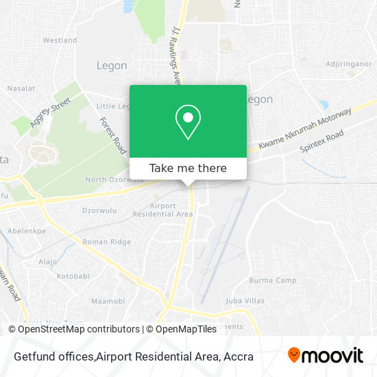 Getfund offices,Airport Residential Area map