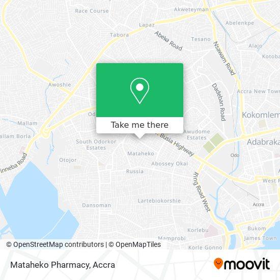 Mataheko Pharmacy map