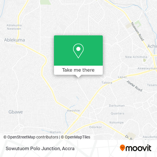 Sowutuom Polo Junction map