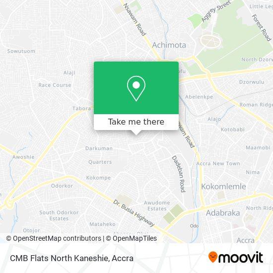 CMB Flats North Kaneshie map