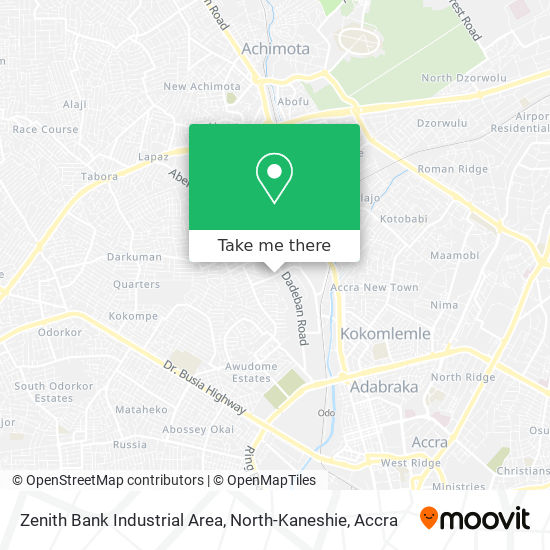 Zenith Bank Industrial Area, North-Kaneshie map