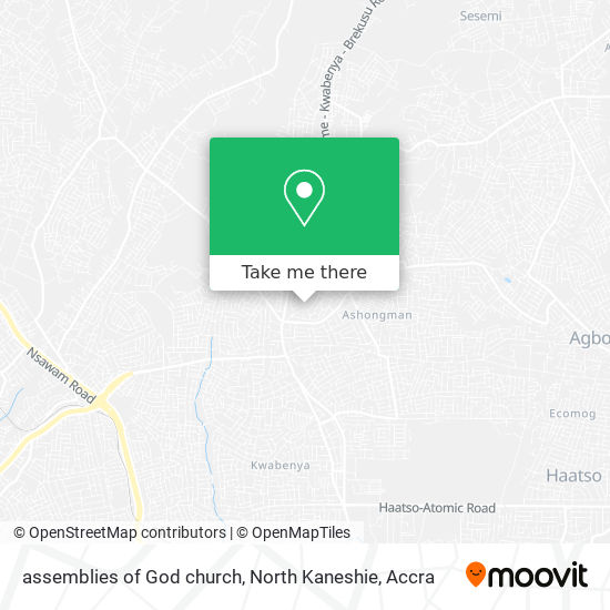 assemblies of God church, North Kaneshie map