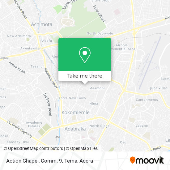 Action Chapel, Comm. 9, Tema map