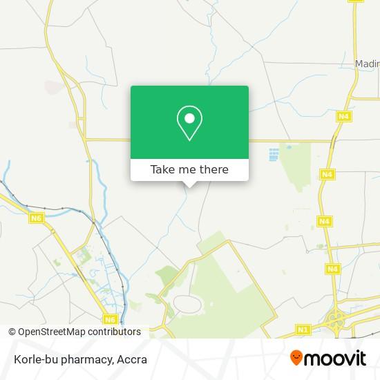 Korle-bu pharmacy map