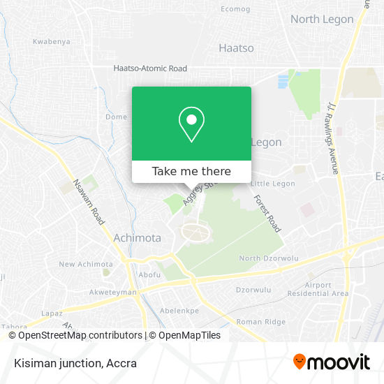 Kisiman junction map