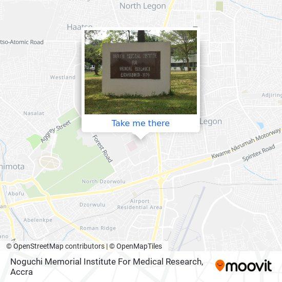 Noguchi Memorial Institute For Medical Research map