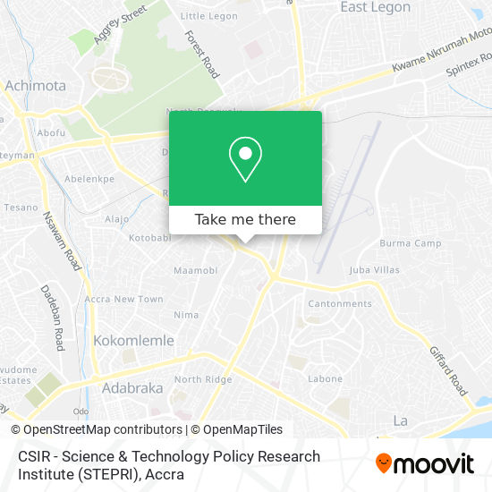 CSIR - Science & Technology Policy Research Institute (STEPRI) map
