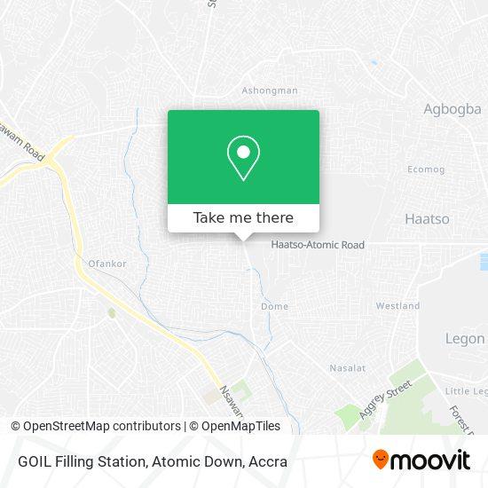GOIL Filling Station, Atomic Down map