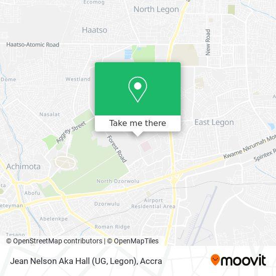 Jean Nelson Aka Hall (UG, Legon) map