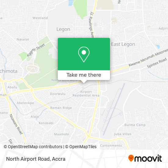 North Airport Road map