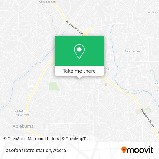 asofan trotro station map