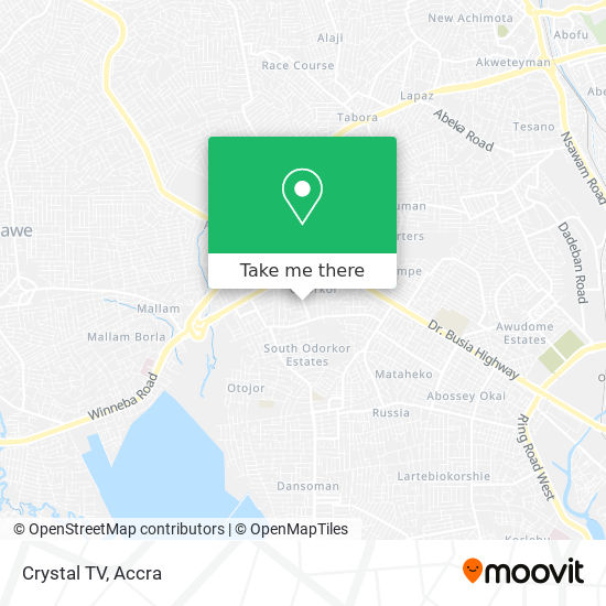 Crystal TV map