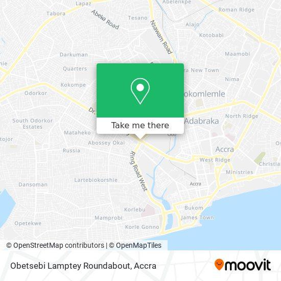 Obetsebi Lamptey Roundabout map
