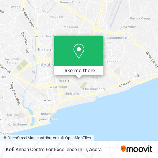 Kofi Annan Centre For Excellence In IT map