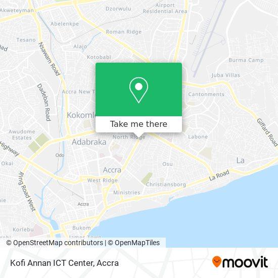 Kofi Annan ICT Center map