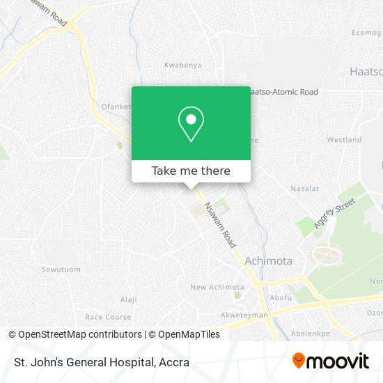 St. John's General Hospital map