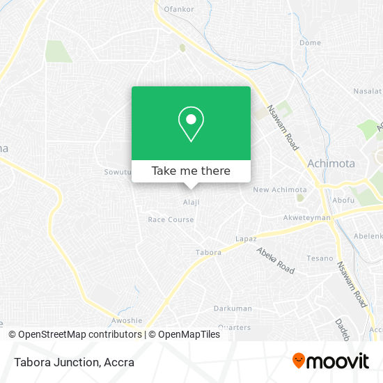 Tabora Junction map