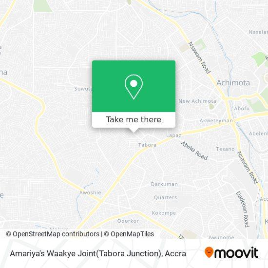 Amariya's Waakye Joint(Tabora Junction) map