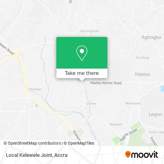 Local Kelewele Joint map