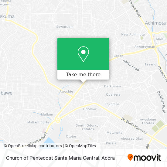 Church of Pentecost Santa Maria Central map