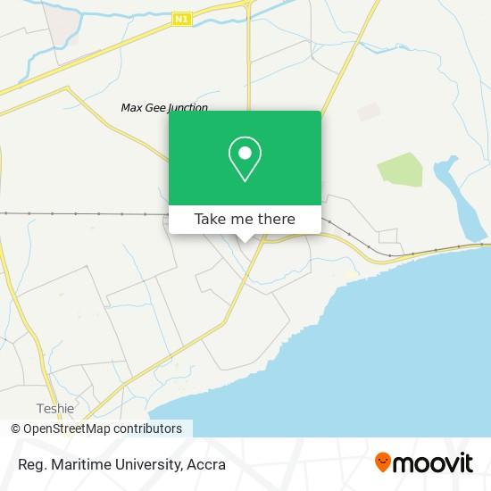 Reg. Maritime University map