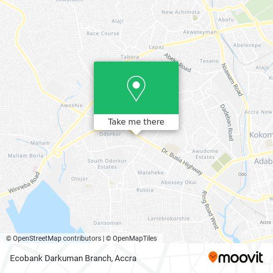 Ecobank Darkuman Branch map