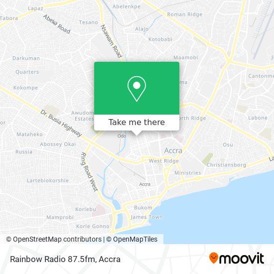 Rainbow Radio 87.5fm map