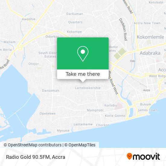 Radio Gold 90.5FM map