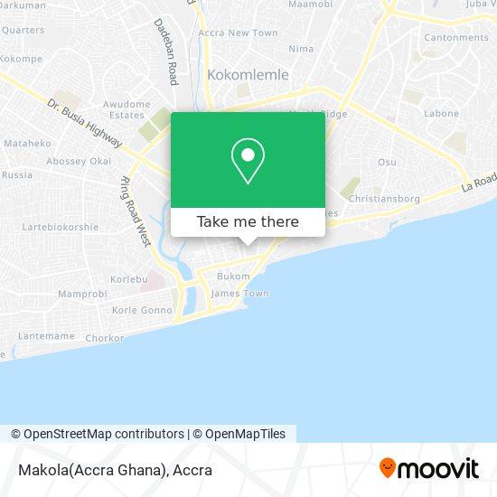 Makola(Accra Ghana) map