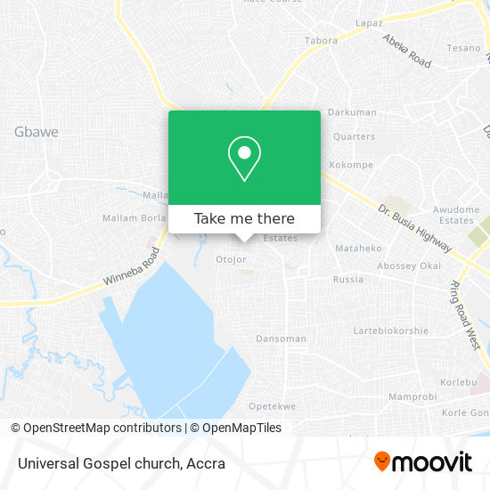 Universal Gospel church map