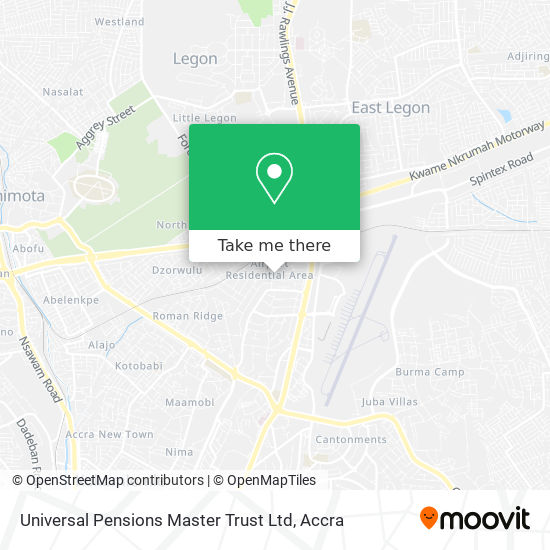 Universal Pensions Master Trust Ltd map
