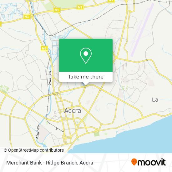 Merchant Bank - Ridge Branch map