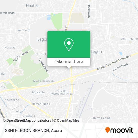 SSNIT-LEGON BRANCH map