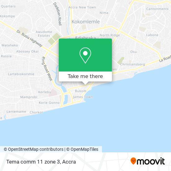 Tema comm 11 zone 3 map