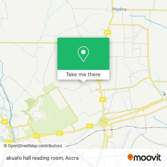 akuafo hall reading room map