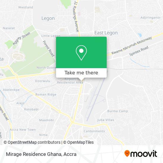 Mirage Residence Ghana map