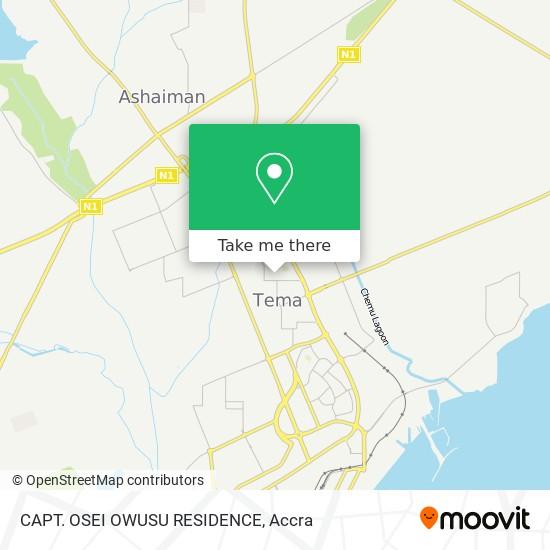 CAPT. OSEI OWUSU RESIDENCE map