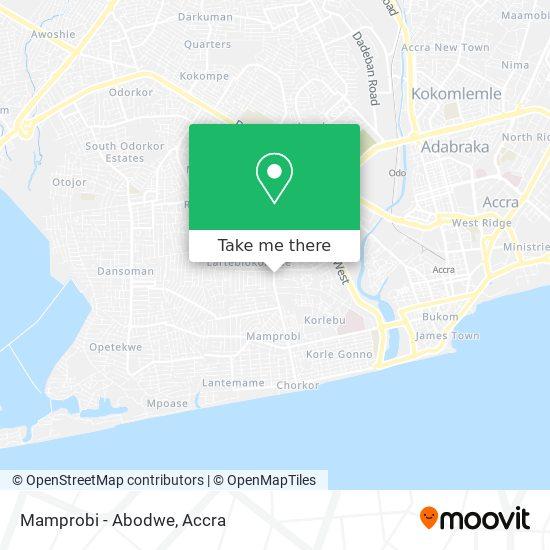 Mamprobi - Abodwe map