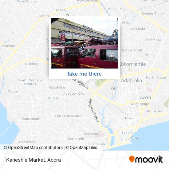 Kaneshie Market map