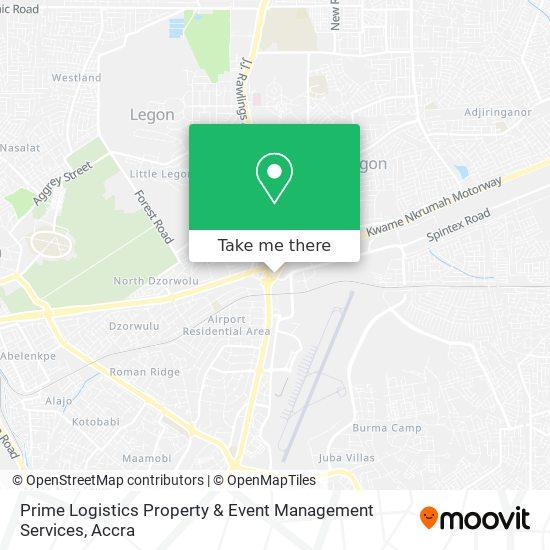 Prime Logistics Property & Event Management Services map