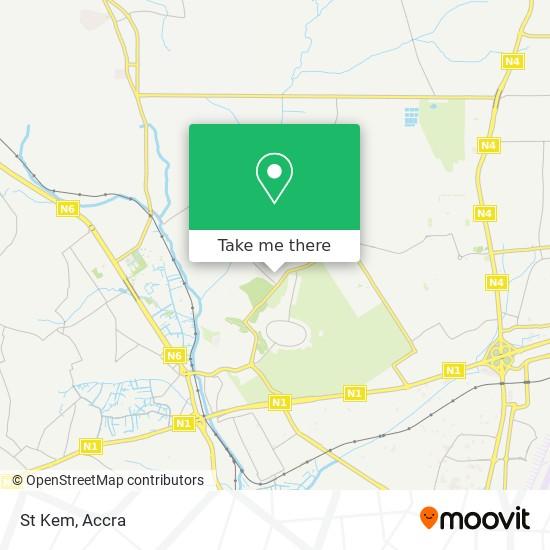 St Kem map
