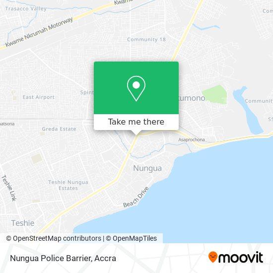 Nungua Police Barrier map