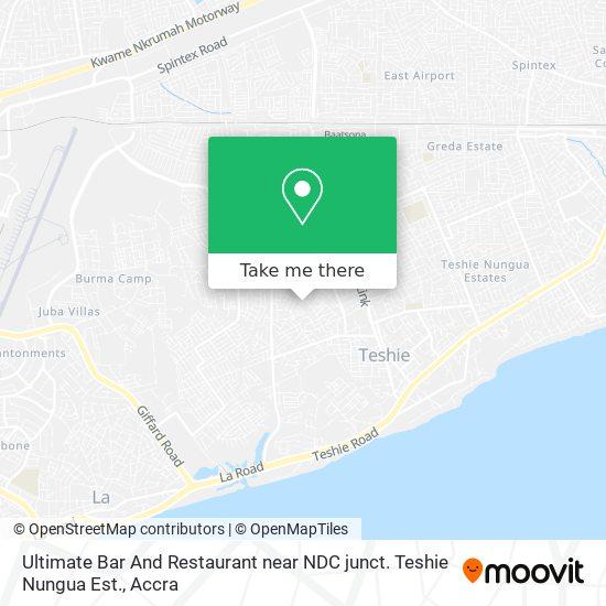 Ultimate Bar And Restaurant near NDC junct. Teshie Nungua Est. map