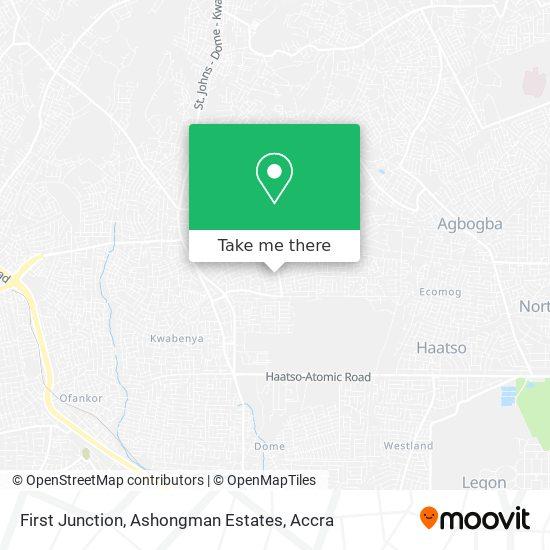 First Junction, Ashongman Estates map
