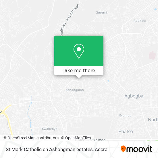 St Mark Catholic ch Ashongman estates map