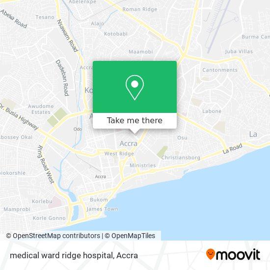 medical ward ridge hospital map