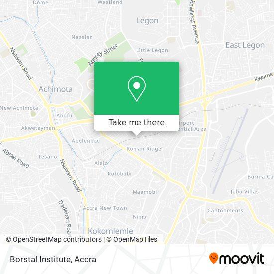 Borstal Institute map
