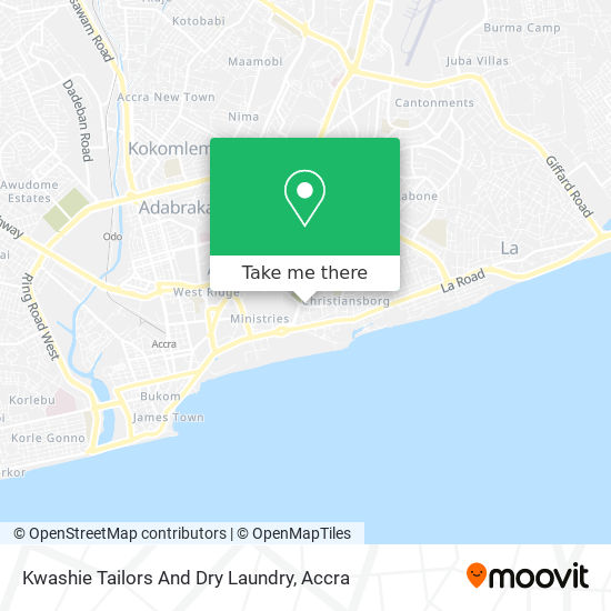Kwashie Tailors And Dry Laundry map