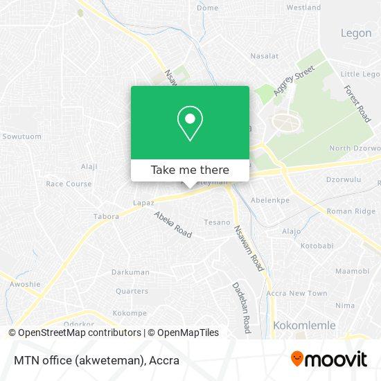MTN office (akweteman) map
